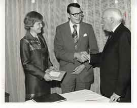 Martha Dodge, Philip R. Dodge, and Park J. White at a reception honoring the publication of Dr. W...