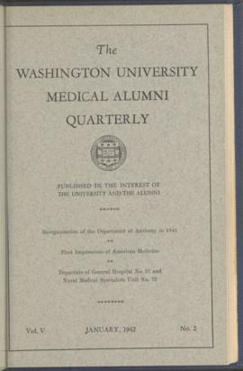 Washington University Medical Alumni Quarterly, January 1942