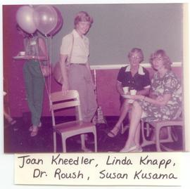 Joan Kneedler, Linda Knapp, Dr. Roush, and Susan Kusama at a Washington University School of Medi...