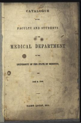 Catalogue of the Faculty and Students of the Medical Department of the University of the State of...