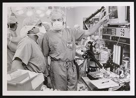 James Shear in an operating room.