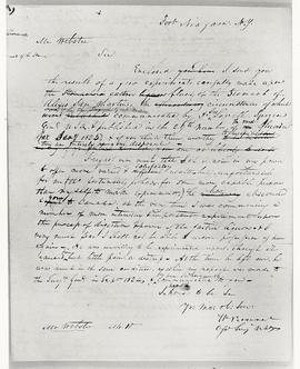"View of a letter from William Beaumont to Mr. Webster, publisher of the ""Medical Recorder,&q..."