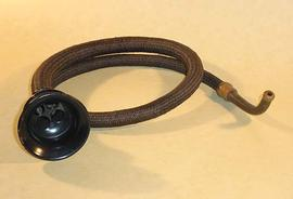 Black metal conversation tube, 19th century
