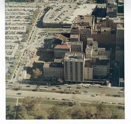 Aerial view of St. Louis Children's Hospital.