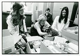 Judy Warner, Bobbi Bloton, Eileen Carlson, and Evelyn Bonander, Barnes Hospital Department of Soc...