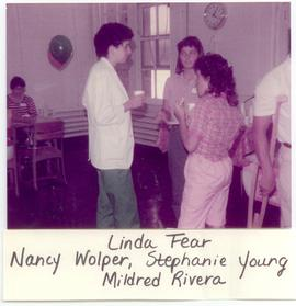 Linda Fear, Nancy Wolper, Stephanie Young, and Mildred Rivera at a Washington University School o...
