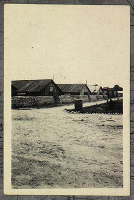 View of huts, Base Hospital 21, Rouen, France.
