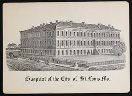 City Hospital of St. Louis admittance to practice card for Mr. Gustavus Buck.