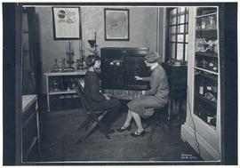 Western Electric 1-A Audiometer in use, circa 1920s.