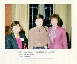 Group portrait of Marilyn Horst, Evelyn Bonander, and Ann Kantor.