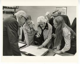 Scene from the Max A. Goldstein rare book collection dedication open house, Washington University...