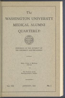 Washington University Medical Alumni Quarterly, January 1945