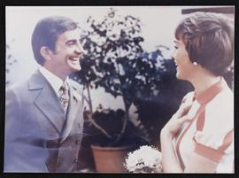 William Blake Edwards and Julie Andrews on their wedding day.