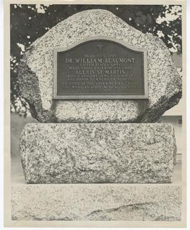 William Beaumont memorial plaque, St. Louis Medical Society.