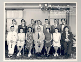 Group portrait of members of the Fourth International Cancer Research Congress, Jefferson Hotel, ...