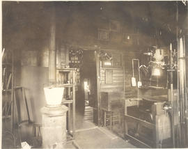 Interior view of a lab and x-ray equipment.