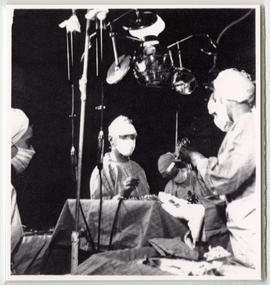 Evarts A. Graham performing an operation.