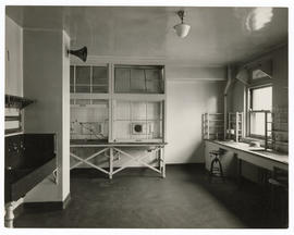 St. Louis Children's Hospital chemical laboratory, c.1914-1915.