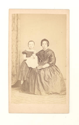 Louise Beckmann Baumgarten and daughter Johanna, wife and daughter of Frederick Ernst Baumgarten.