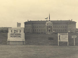 Administration Building, 21st General Hospital, Ravenel Hospital complex, Mirecourt, France, 1945.
