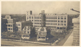View of Barnes Hospital and the Washington University School of Medicine Dispensary Building unde...