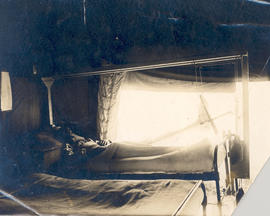 Patient in a tent ward, Base Hospital 21, Rouen, France.