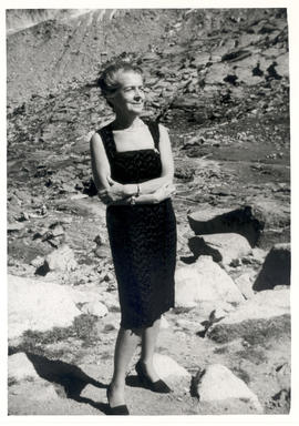 Portrait of Rita Levi-Montalcini on Mont Blanc.