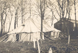 Exterior view of a tent laboratory, Base Hospital 21, Rouen, France.