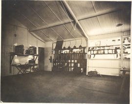 Interior view of a lab and hanging x-rays.