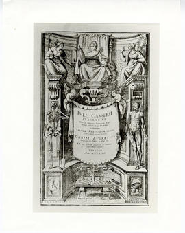 "Frontispiece of ""Julii Casserii Placentini Tabulae Anatomicae LXXIIX,"" by Guilio Casserio."