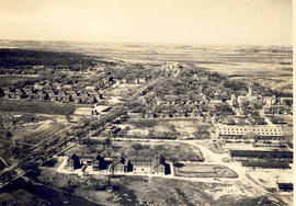 Aerial view of Fort Leavenworth, Kansas.