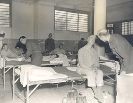 Ward scene (25-bed ward), 21st General Hospital, Ravenel Hospital Hospital, Mirecourt, France.