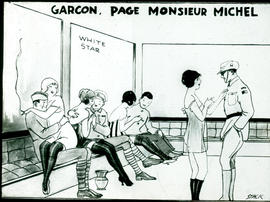 """Garcon, page Monsieur Michel"" cartoon by William Stack."