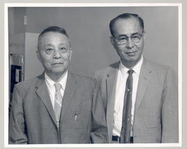 Portrait of Hiromu Tsuchiya (left) and an unidentified colleague.