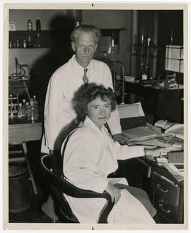 Portrait of Carl F. and Gerty T. Cori.