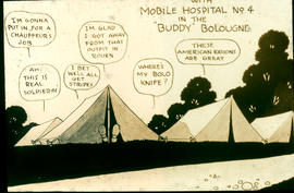 """With Mobile Hospital No. 4 in the 'Buddy' Bolougne"" cartoon."