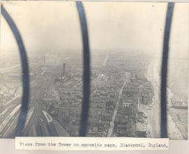 View of Blackpool from an observation tower, looking north.