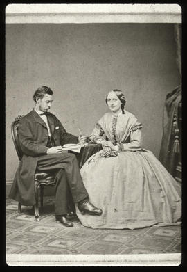 Gustav Baumgarten and Aminda Hillegeist Baumgarten as newlyweds.