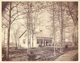 "Dr. Frederick Ernst Baumgarten's house and yard in ""Benton,"" MO."