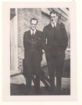 Walter Baumgarten, Sr. (right) with an unknown person.