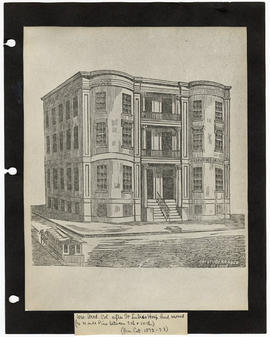 Drawing of Missouri Medical College, St. Louis, Missouri.