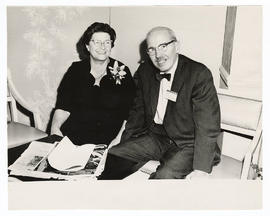 Unidentified woman and Robert A. Moore.