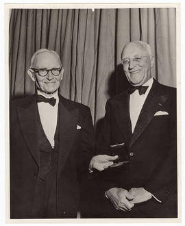 Allen O. Whipple and Evarts A. Graham at the first Graham Medal Presentation.