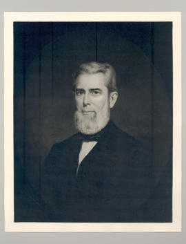 Photo reproduction of portrait of Dr. Frederick Ernst Baumgarten, painted ca. 1855.