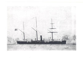 Drawing of American Civil War era ship.