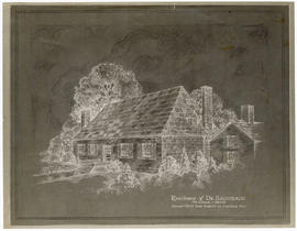 Drawing of the home of Dr. Saugrain, St. Louis, Missouri.