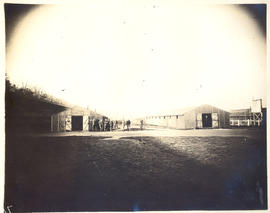 Exterior view of enlisted men's new quarters.