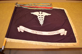 21st General Hospital unit guidon with campaign streamers.