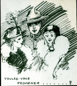 """Voulez-vouz promener?"" cartoon."