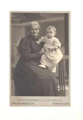 Mrs. Theodora Baumgarten Bose and grandson, Nordhausen, Germany.